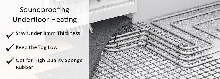 Soundproofing Undefloor Heating