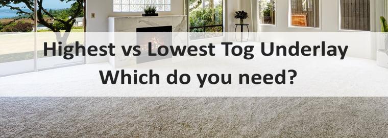 high tog vs low tog underlay