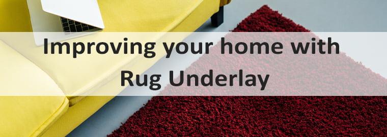 Rug Carpet underlay banner