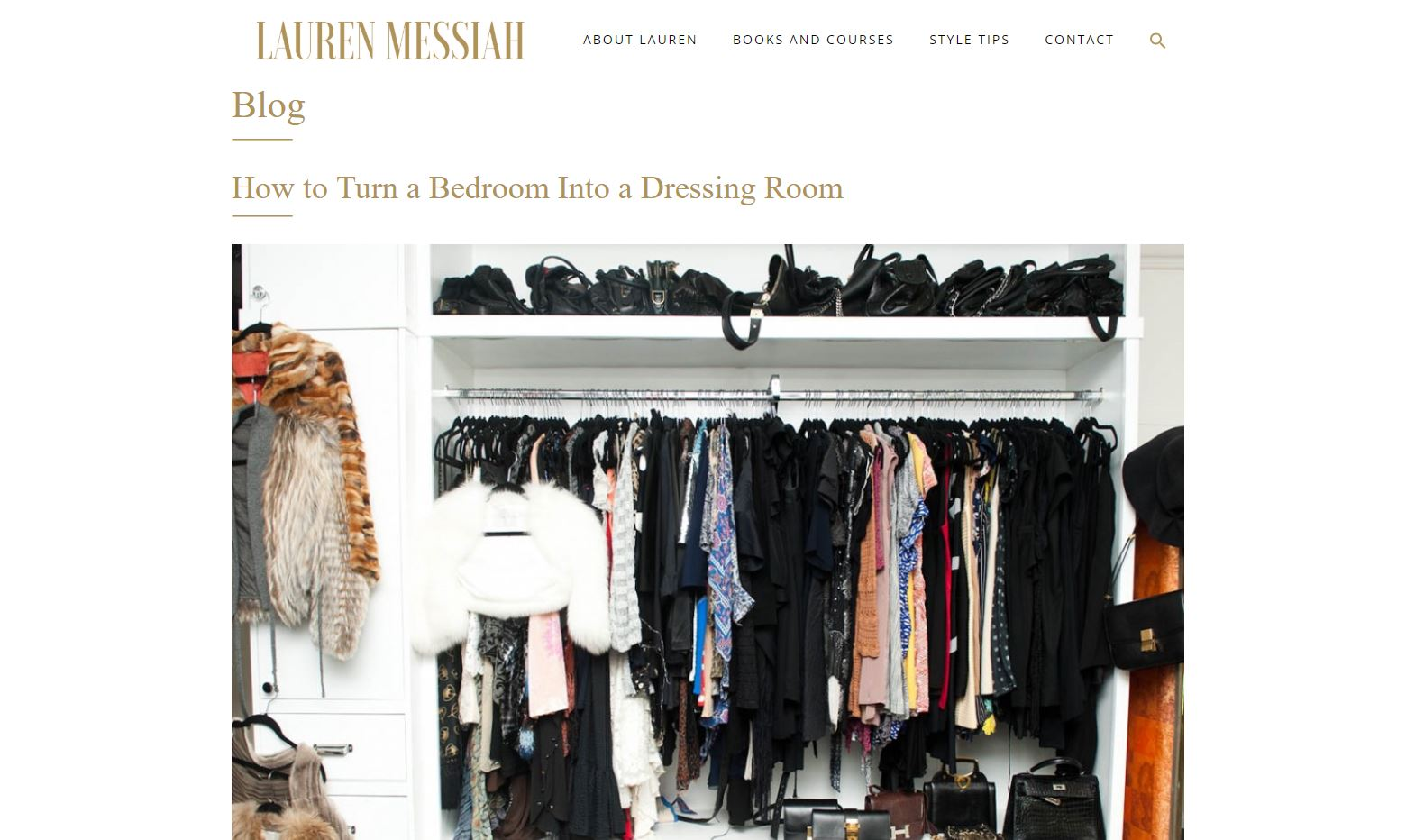 Lauren Messiah How to Turn a Bedroom into a Dressing Room