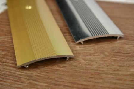Flat cover strip for door