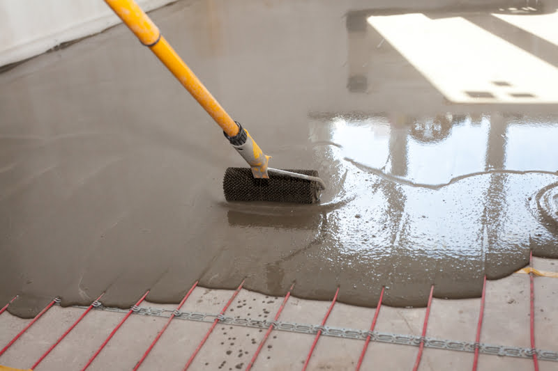 Underfloor Heating with Self Levelling Compound